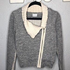 Anthro Dolan zip Asymmetrical sweater jacket